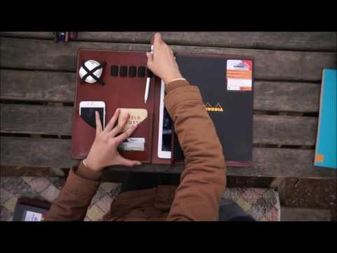 iPad pro/Surface pro Leather Portfolio