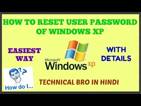 Windows XP User Password Reset/Recovery Without Any Software with Full Details [Hindi]