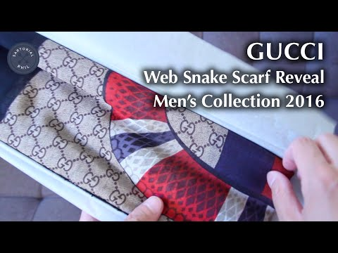 Gucci Web Snake Scarf for Men's 2016 Collection