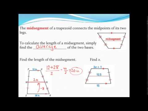 Finding the midsegment of a trapezoid