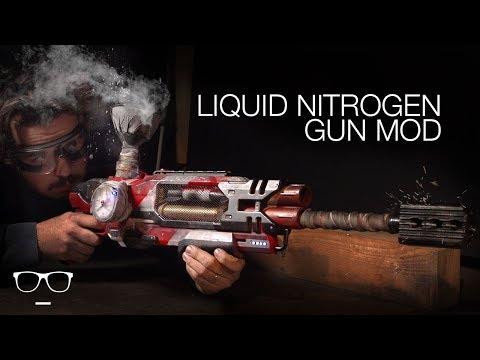 INSANE NERF GUN MOD LIQUID NITROGEN!