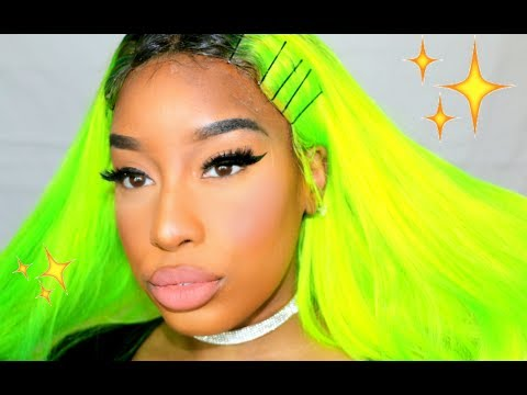 🌈COLORWEEK:  SLAYING BRIGHT LIME GREEN HAIR (Start to Finish) FEAT. YOLISSA HAIR  *2017*