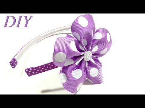 How To Make Hair Bows 🎀 DIY #202 Flower Headband Tutorial