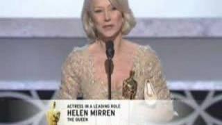 """Helen Mirren winning an Oscar® for """"The Queen"""""""