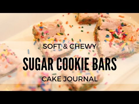 How to Make SOFT and CHEWY Frosted Sugar Cookie Bars