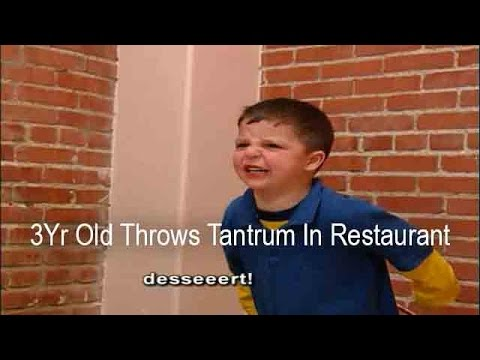 3Yr Old Throws Tantrum In Restaurant When He Can't Have Dessert | Supernanny