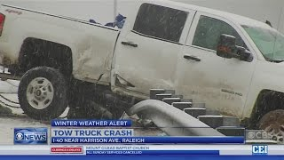 Snow and sleet hit Raleigh; areas west and north get half a foot of snow