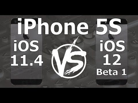 Speed Test : iPhone 5S - iOS 12 Beta 1 vs iOS 11.4 (iOS 12 Beta 1 Build 16A5288q)