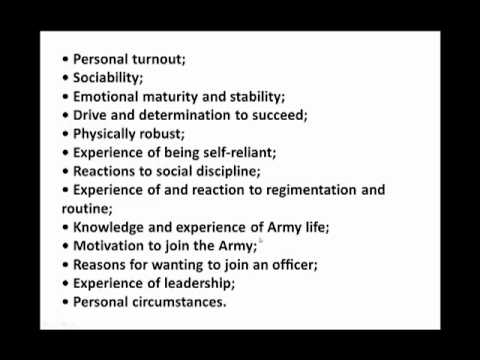 Army Officer Selection Board - How to pass the AOSB