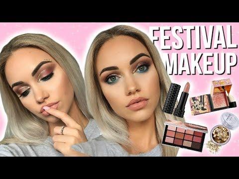 FULL FACE TESTING NEW MAKEUP // Festival Makeup