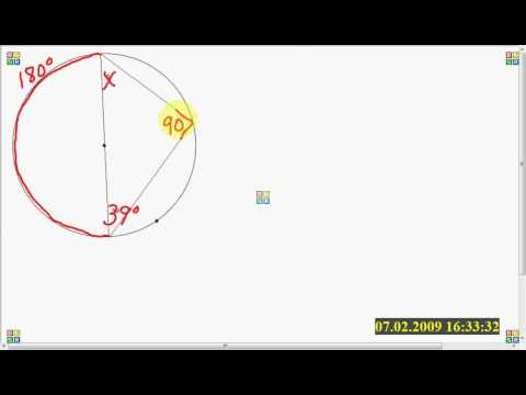Solve for missing angle of an inscribed triangle