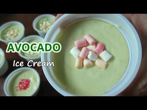 Homemade Avocado Ice Cream |  Avocado Ice Cream Recipe | No Ice Cream Maker