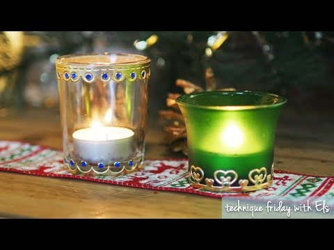DIY Votive Candle Holders | Technique Friday with Els