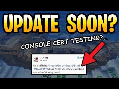 Minecraft Update Aquatic Console In Cert Testing? PS3, PS4, PS-Vita, Wii U & Xbox 360