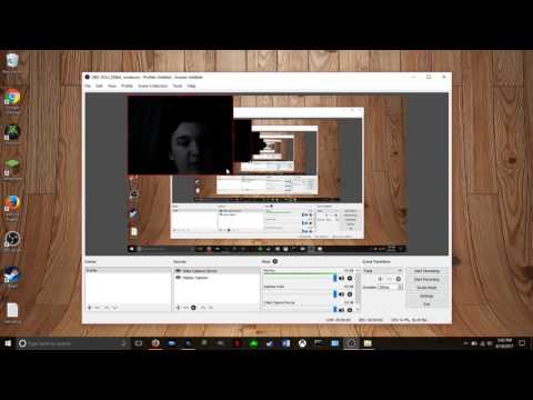 How to setup face cam for a screen recording video