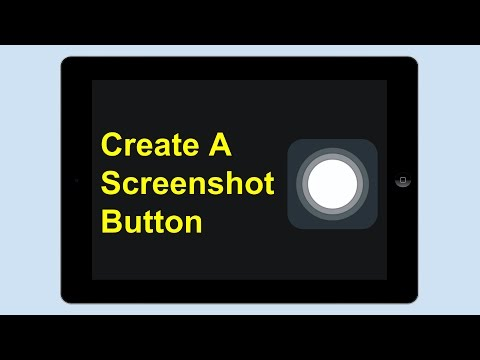 Creating An iPad Screenshot Button
