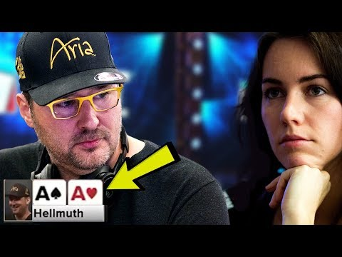 Phil Hellmuth TRAPS Liv Boeree With Pocket Aces - Crazy Poker Hand