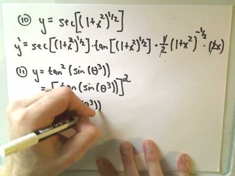 ❖ Lots of Different Derivative Examples! ❖
