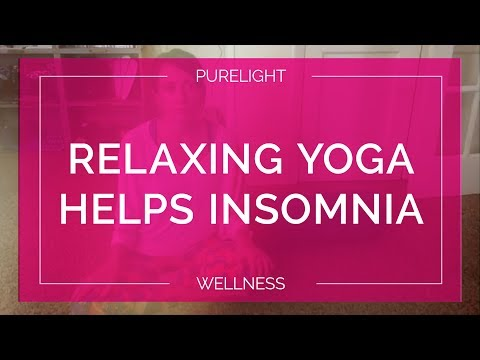 Relaxing Yoga Routine Before Bedtime and Helps Insomnia