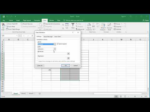 How to validate data entered in to a cell in Excel 2016 - Whole number and Decimal values
