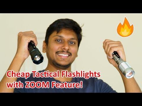 Cheap Tactical Flashlights with ZOOM Feature...