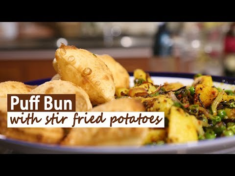 Puff Bun With Stir Fried Potatoes | Mallika Joseph Food Tube