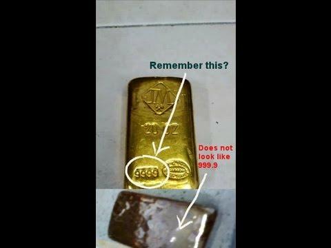 20 troy ounce fake Gold Bar Part 2: Melting