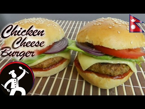 Chicken Burger | Chicken चीज बर्गर | How to make Chicken Cheese Burger | Yummy Food World 🍴26