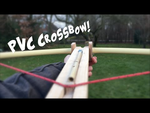how to make a PVC crossbow