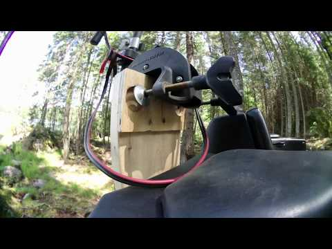 ATV/QUAD electric trolling motor rack mount and brook trout fishing.Mastigouche 4K