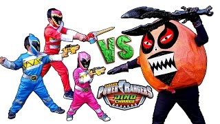 Power Rangers Dino Charge  Vs Giant Orange Potato