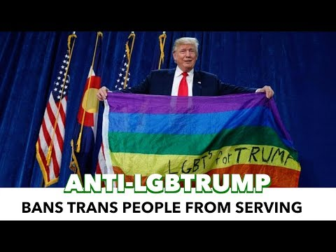 Trump Bans Transgender People From Military Service