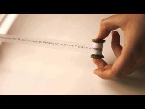 Miniature Love Letter Scroll