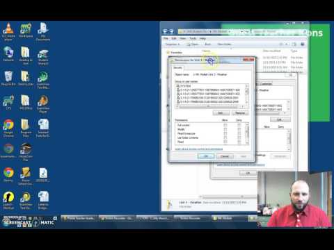 Setting Folder Securities and Permissions in Windows 7