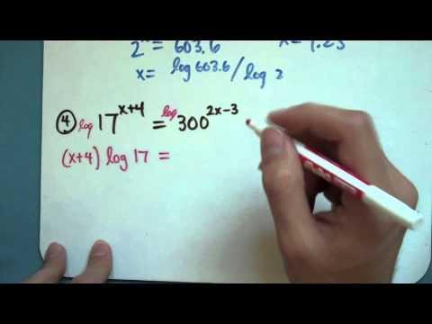 Solving Equations using Logs (8-5-1)