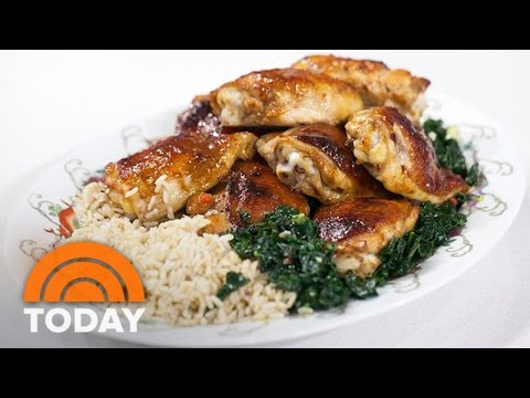 Baked Honey Hoisin Chicken With Stir-Fried Kale: Make It In A Wok! | TODAY