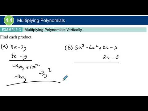 4.4 Example 3 Multiplying Polynomials Vertically