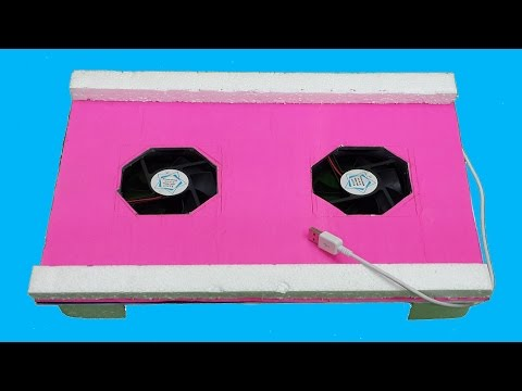 How to Make a Laptop Cooling Pad with 2 Fans - Very Easy