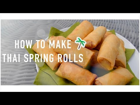 How to make thai spring rolls | DIY Våruller | Bee ♡