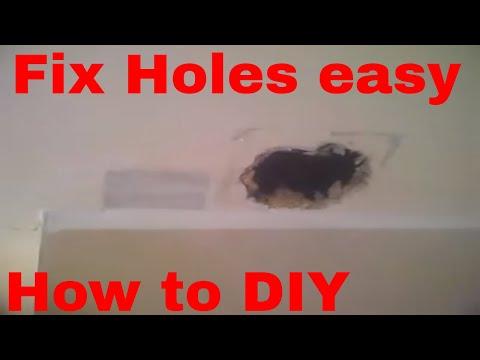 How to repair holes in stud walls and ceilings DIY