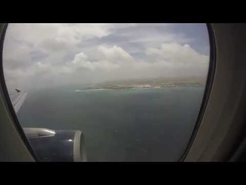 Gopro: Aruba Vacation 2015 - Us Airways Landing On Aruba Airport - Action Cam