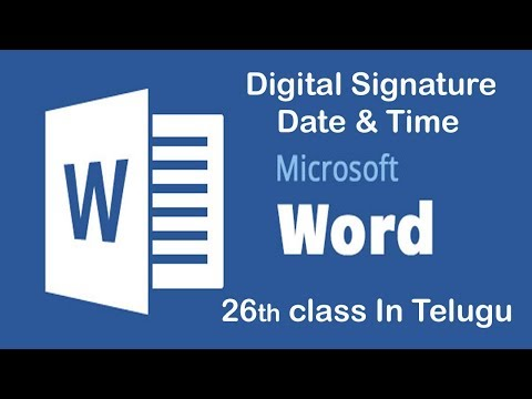 How to Attach Digital Signature in MS Word 2007!Document in telugu 26 part