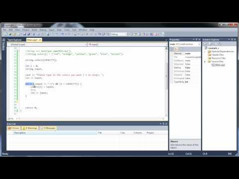 C++ Tutorial 15 - Arrays