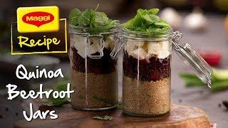 MAGGI recipes: Quinoa Beetroot Jars