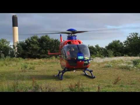 Devon Air Ambulance Departing Marjons College (HD)