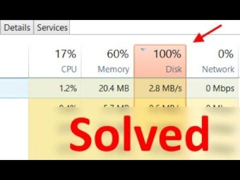 100% Disk Usage On Windows 10 Task manager Solution