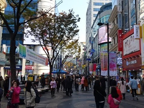 Myeongdong Road, Seoul, South Korea - Famous Shopping Street