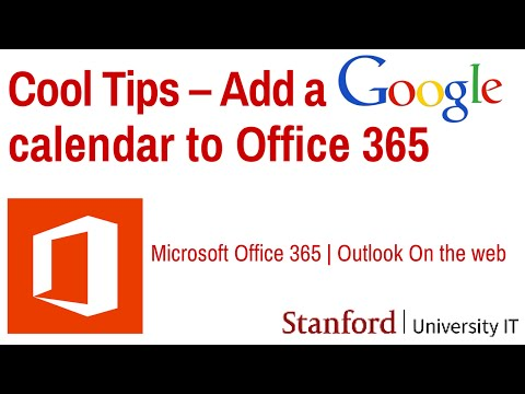 Cool Tips: Add a Google Calendar to Office 365 Outlook on the web