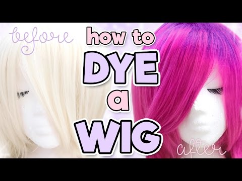 HOW TO DYE A SYNTHETIC WIG | Alexa's Wig Series #7