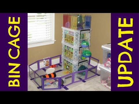 Triple-Decker Hamster Bin Cage UPDATE by HAMMY TIME